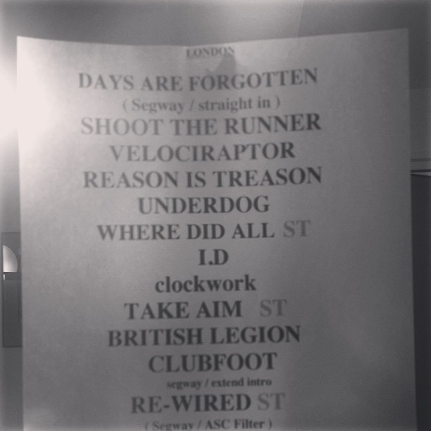 Setlist - Teenage Cancer Trust