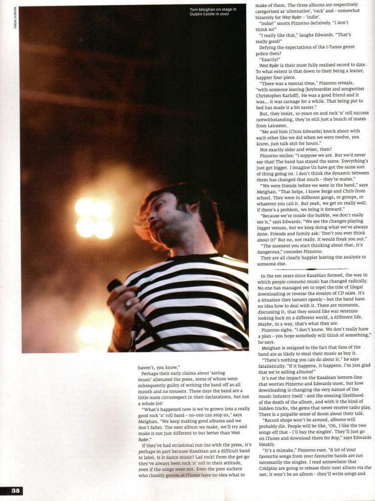 Hot Press - 27 January 2010 p38