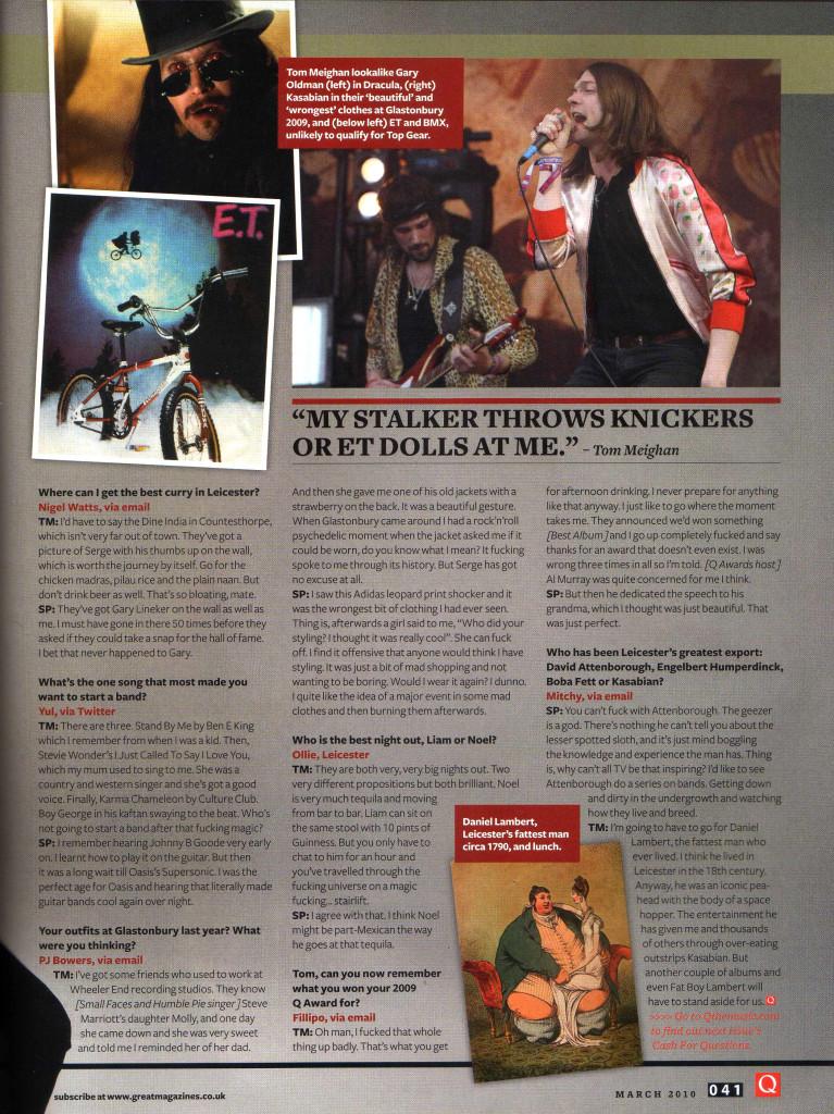 Q Magazine - March 2010 p41