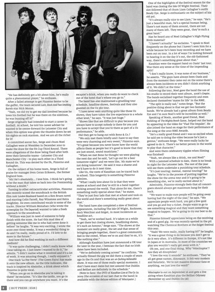 Hot Press - 21 Sept 2011 p38