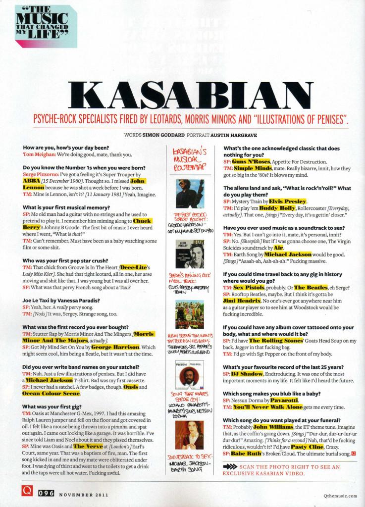 Q Magazine - November 2011 p96