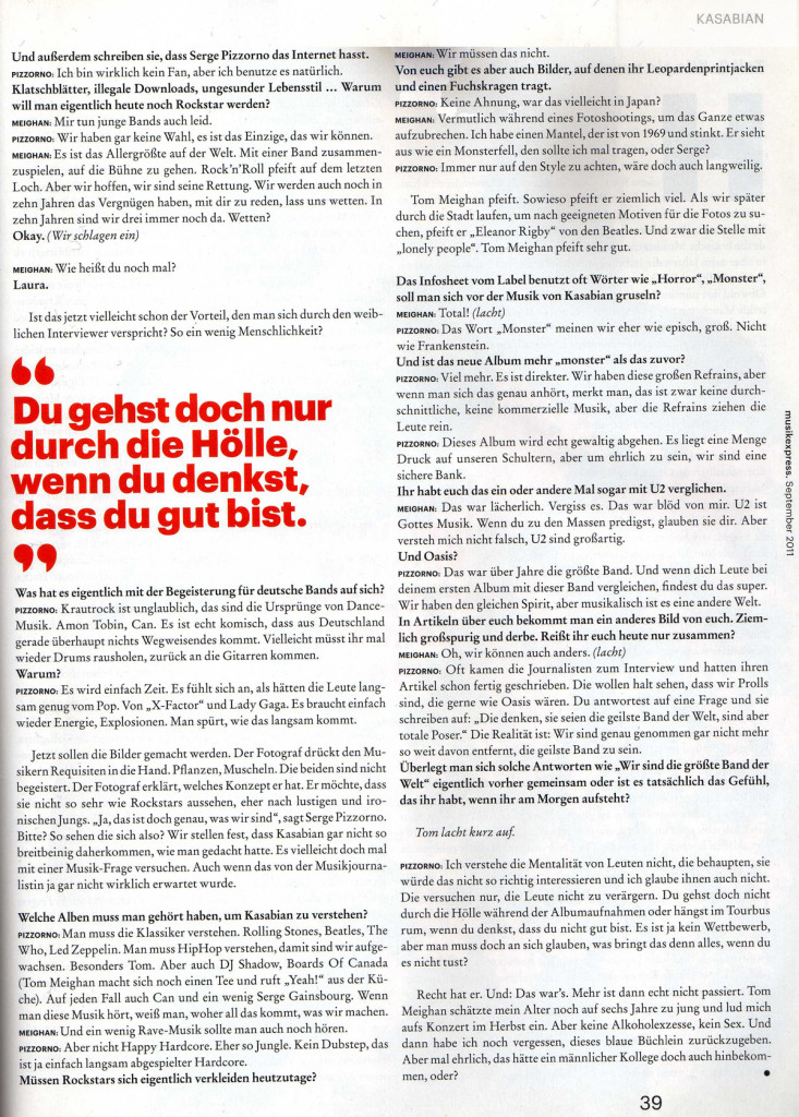 Musikexpress - Sept 2011 p39