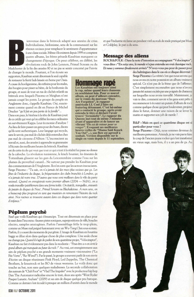 Rock and Folk -  October 2011 p38