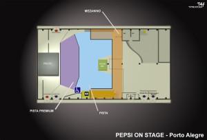 Mapa Pepsi On Stage
